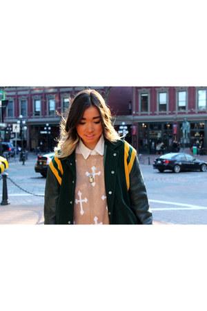 vintage jacket - cross sweater Wildfox sweatshirt