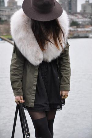 military jacket Collective Concepts coat - vintage lace vintage dress