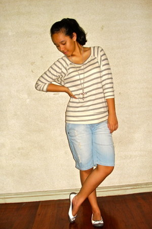 Forever21 sweater - Mango shorts - Suelas - Forever21 necklace