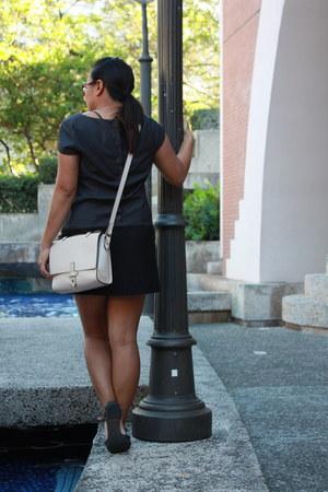 color block Bamboo Sky dress - tribeca bag - leather Jeffrey Campbell sandals