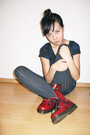 Red-doc-martens-shoes-gray-h-m-tights-blue-h-m-dress