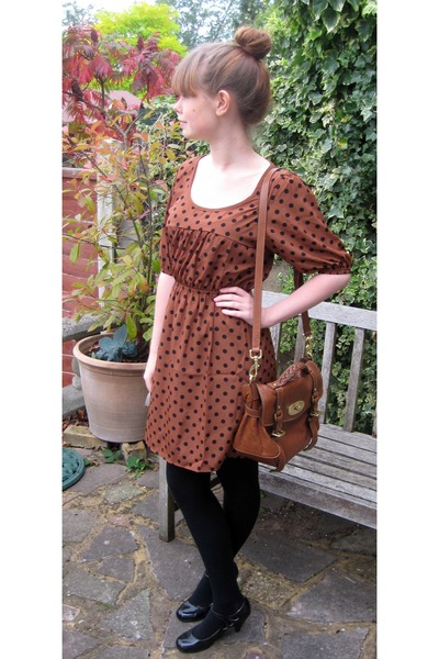 6e06693a497 Brown Soft Buffalo Mulberry Bags, Brown Polka Dot Modcloth Dresses ...