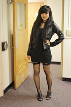 H&M jacket - Tahari shoes - American Apparel dress - Claires necklace