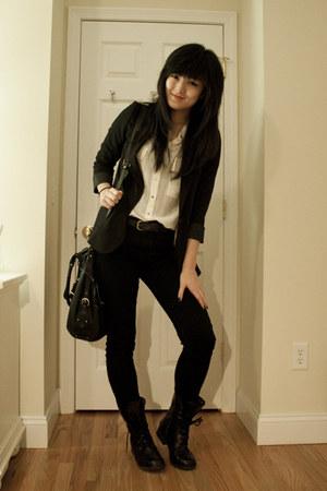 seychelles boots - asos bag - H&M blazer