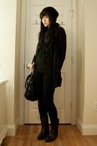 sam edelman boots - H&M hat - Nordstrom scarf