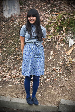 navy oxfords Forever 21 shoes - navy printed Paul Frank dress
