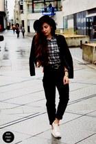H&M jeans - romwe hat - H&M jacket - H&M sneakers
