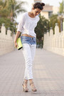 Light-blue-zara-jeans-white-zara-sweater-chartreuse-bcbg-bag