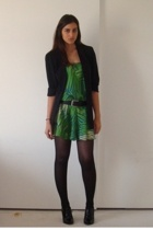 moms old blazer - Express skirt turned dress - BCBGirls shoes