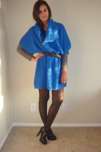 blue Target sweater - black Target shoes - gray Express t-shirt