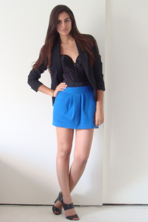 Express blazer - vintage bra - Target skirt - Target shoes