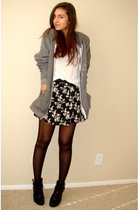 gray American Apparel jacket - white Express t-shirt - black Target skirt - blac