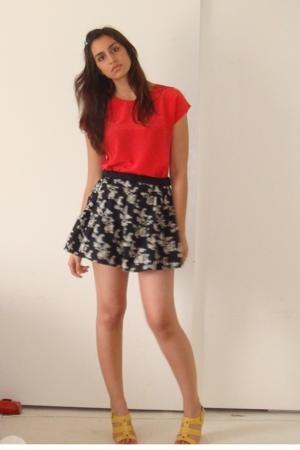 moms old blouse - Target skirt - Nine West shoes
