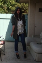 gallery jacket - H&M blouse - Marc by Marc Jacobs jeans - Target shoes