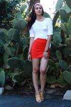 red H&M shirt - white Zara sweater - gray American Apparel scarf