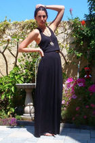 black H&M dress - black Cynthia Vincent for Target shoes - brown vintage belt