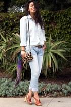 light blue Forever 21 jeans - brown latitude femme shoes