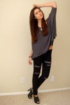 gray Express t-shirt - black Silence & Noise jeans - black Target shoes