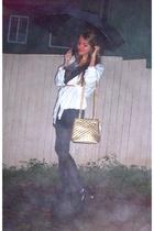 vintage jacket - vintage dress - vintage purse - Novo shoes