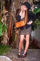 vintage shoes - vintage purse - Country Road dress - Sportsgirl hat