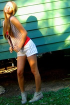 vintage vest - vintage shoes - Obvious shorts
