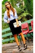 markets t-shirt - vintage skirt - vintage accessories - Spendless shoes