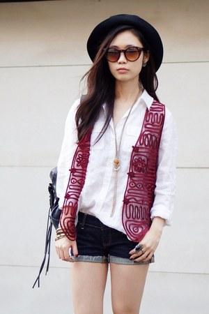 vintage Marida hat - lita python Jeffrey Campbell boots - vintage crochet vest