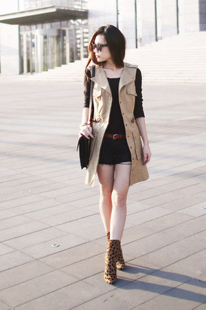 trench vest cynthia steffe vest - Balmain boots