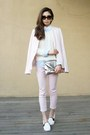 Light-pink-af-jeans-white-urban-outfitters-sweater-light-pink-zara-blazer