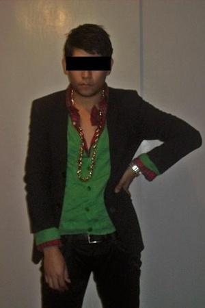 Michael Kors sweater - Juicy Couture necklace - Zara blazer - Miu Miu jeans - Do