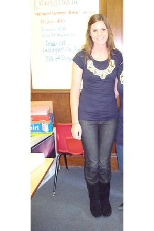 Language Los Angeles shirt - black shoes - black Allure Blues jeans