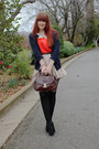 Black-heart-detail-equip-tights-dark-brown-vintage-bag-navy-myer-cardigan-