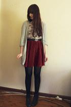 crimson skirt - cream car print Glamorous shirt