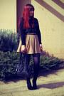 Black-wayne-cooper-bag-camel-dotti-skirt-black-tartan-sportsgirl-blouse-bl
