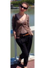 Black-cat-eye-random-sunglasses-brown-madonna-cardigan