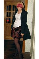 H&M coat - H&M vest - Topshop t-shirt - skirt - Bensimon Collection purse - Prim