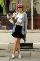 top - H&M top - H&M belt - Topshop skirt - Topshop shoes