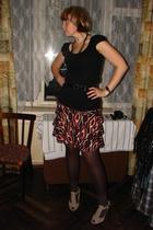 Topshop t-shirt - Promod skirt - Topshop shoes