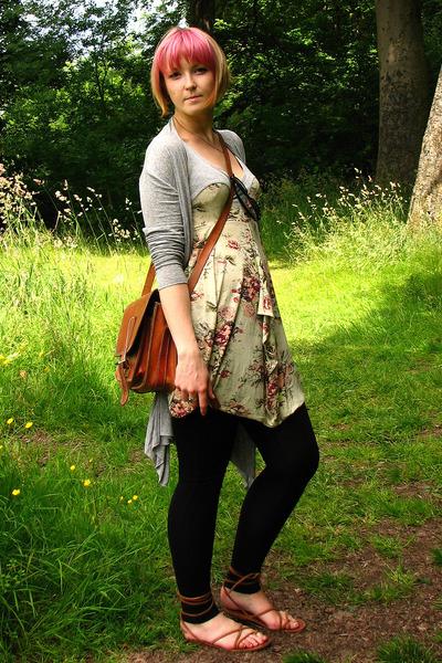 sweater - Topshop dress - Zara leggings - accessories