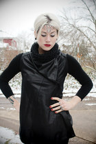 black knotted cowl GutsGlamGlory scarf