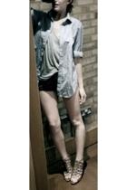 TMLewin shirt - Topman vest - American Apparel shorts - Zara shoes