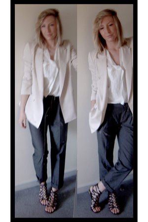 Zara blazer - Zara blouse - Gap pants - Miss Selfridge shoes