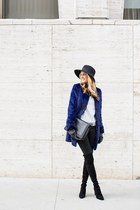 stuart weitzman boots - Diane Von Furstenberg coat - Equipment sweater