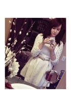 white Forever 21 dress - Forever 21 cardigan