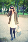 Off-white-h-m-garden-collection-dress-olive-green-zara-jacket-ivory-chanel-v