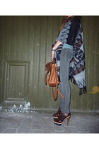 brown Marni shoes - gray Cheap Monday jeans - brown Mulberry purse - brown vinta