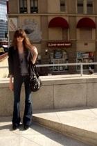 vintage from Screaming Mimis NYC blazer - American Apparel t-shirt - J Brand jea