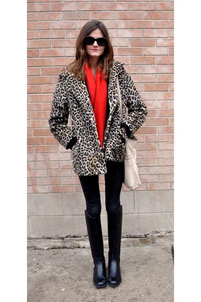 vintage coat - Helmut Lang jeans - Dublin boots - liz claiborne purse - vintage