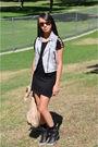 Black-sky-dress-black-forever-21-top-blue-madewell-shorts-red-prada-purse-