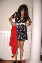 vintage dress - vintage - Steve Madden shoes - vintage belt
